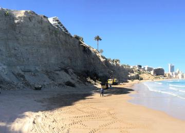 Estabilización de taludes en zona costera