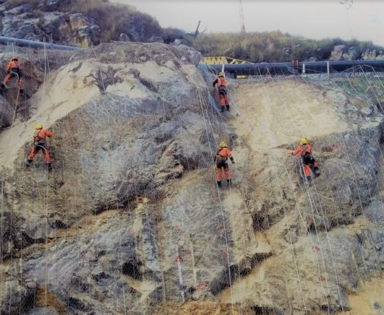 Perforación en altura en Mina Ancash