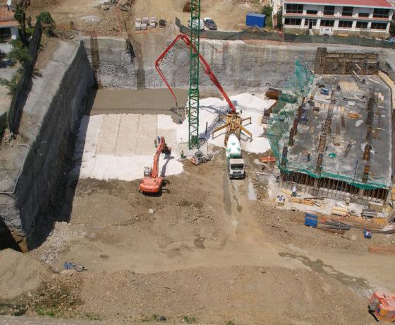 Soil-nailing en excavación de mas de 5.000m2