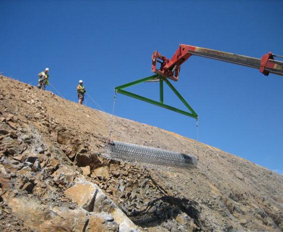 Protección y estabilización de taludes del tramo A-66